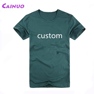 Silk screen printing organic cotton t shirt customized logos
