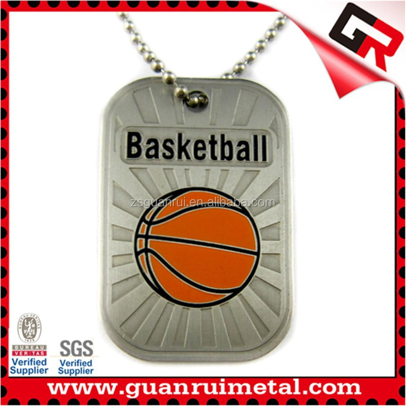High quality metal polished dog tags