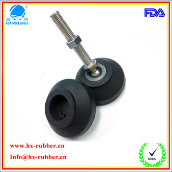 Factory Custom Adjustable Flexible Anti Vibration Rubber Feet