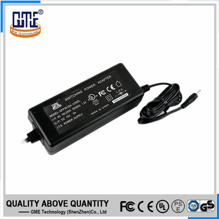 Fully certified ac dc 220v 12v 3a switching power supply for TV box
