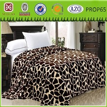 cow and other animal skin design coral fleece blanket