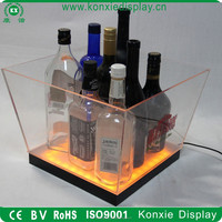 custom led moet chandon beer acrylic glass ice bucket 100 cooler wholesale