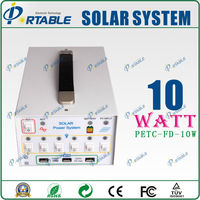 12v 14AH battery 10w mini solar system power for home/outdoor