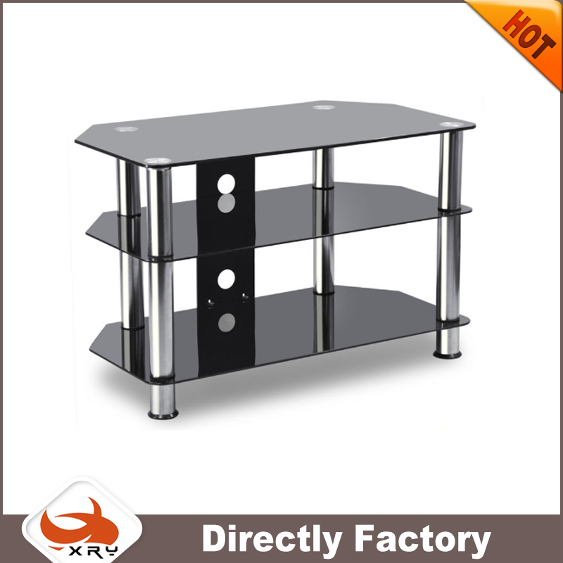 tv stand living room furniture type/home furniture stainless steel glassTV stand