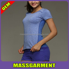 exercise shirt wholesale women workout shirts soft gym custom slim fit t-shirt