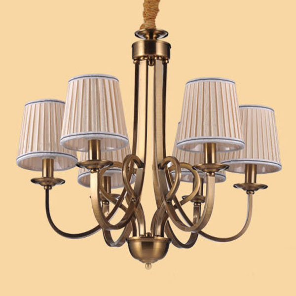Wholesale Factory Price Fancy Modern Fabric Brass Pendant Lamp