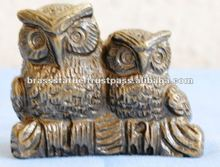 Christmas Decoration ' Brass Owl Set '