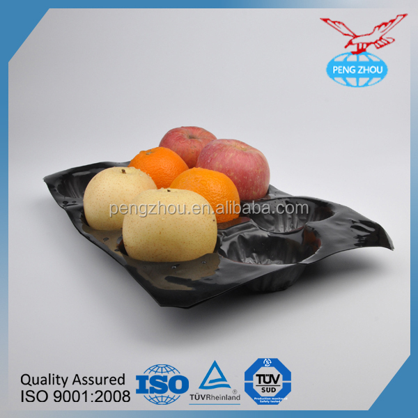 PVC fruit tray eco - friendly design high quality transparent fruit pp tray