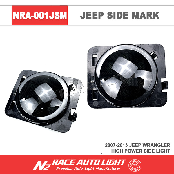 N2 RACE AUTO 2015 Newest Accessories for JK jeep wrangler fender Side Marker Light LED Amber IP67