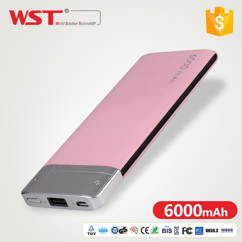 Professional power Universal 6000mAh Portable Charger Li-ion Backup battery Power Bank F SmartPhone