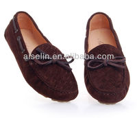2013 doudou xie Royal blue brand name women flats brown