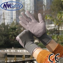 NMSAFETY 13 gauge light purple foam latex gardening work gloves