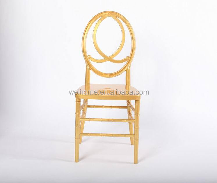 PC resin gold phoenix chairs, channel infinity chairs for party