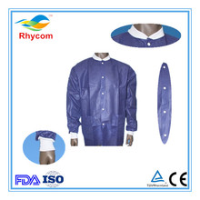 Wholesale Disposable PP/SMS+PE/SF Nonwoven Lab Coat
