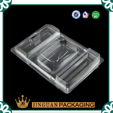 Transparent plastic clamshell blister packaging for electronic products