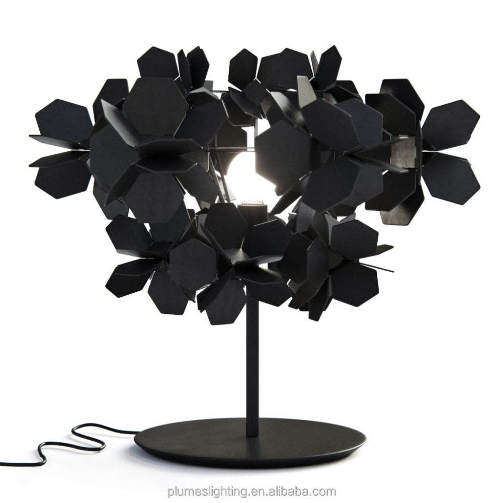 Antique metal trees black chandelier table lamp