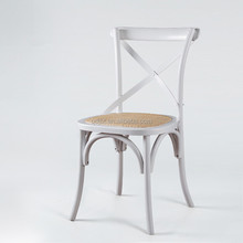 wholesale cross back wood restaurant chair