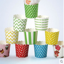 White Pink Stripe Striped Muffin Cake Cups Wedding Party Cheap Bulk Colorful Middle Cupcake Cases Decoration Base