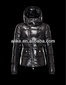 custom Casual fashionable polyester shiny womens down jackets with winters duck feather jacket