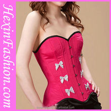 Newest design cotton sexy decorated corset