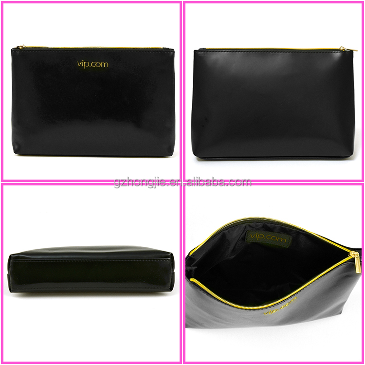Factory Price Black Color Man Cosmetic Bag/Clutch Pouch