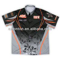 dye sublimation racing pit crew shirt