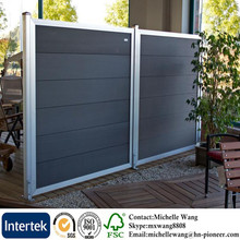 Easy install cheap Europe Popular WPC prefab fencing