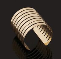 Retail Online Shopping Fashion 18K Gold Cuff Bangle with Wide Design