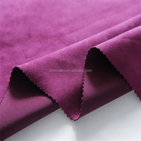Polyester/spandex knitted elastic scuba suede / wholesale fabric for clothing