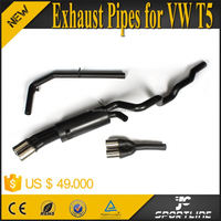 304 Steel T5 Muffler Exhaust Pipe For VW T5 Transporter Caravelle 2014 ABT style