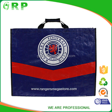 Wenzhou High quality portable red blue pp woven shopping tote bag