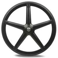 Hot selling 50mm road 5 Spoke carbon composite bike wheels 700c tubular chinese road wheels for bicycles