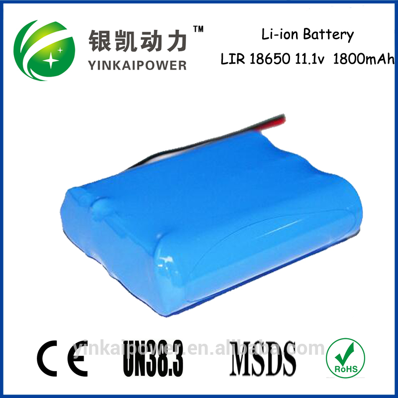 Bright torch light rechargeable battery 12v light weight li ion nmc battery packs