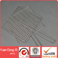 Crimped simple design bbq grill net / Portable BBQ mesh panels