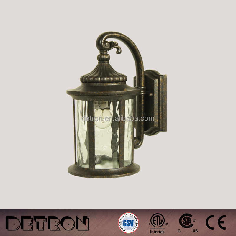 Euro-style bronze design outdoor lantern wall lamp,led wall outdoor square light (HS6401-DN-M)