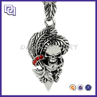 BIG DISCOUNT ETHNIC NECKLACE,MENS FASHION JEWELRY MACRAME NECKLACE,SKULL PENDANT FOR BLACK MAN NECKLACE