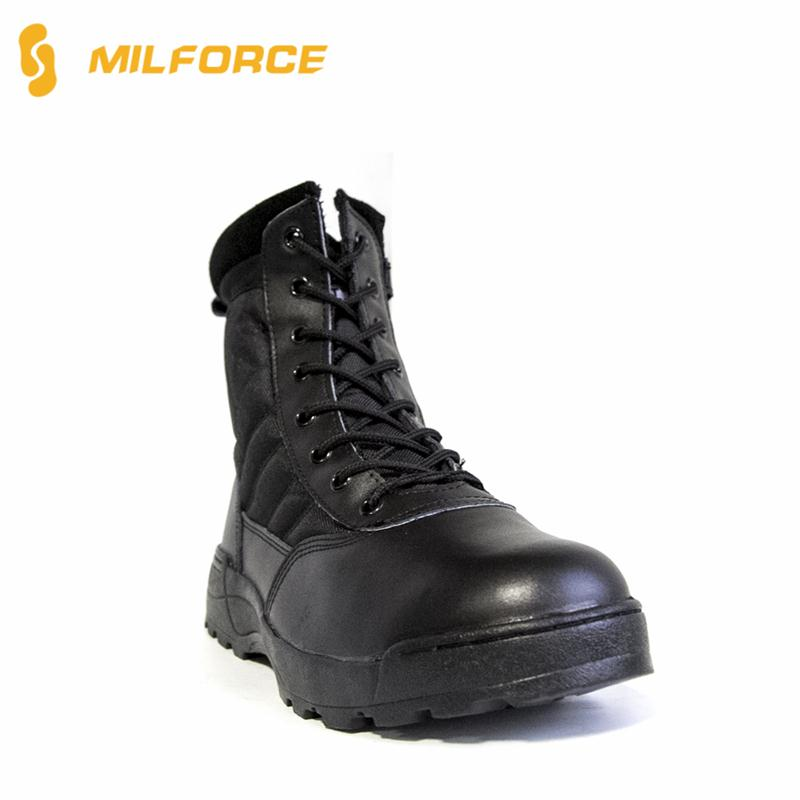 Professional ladies leather lace up boots made in China
