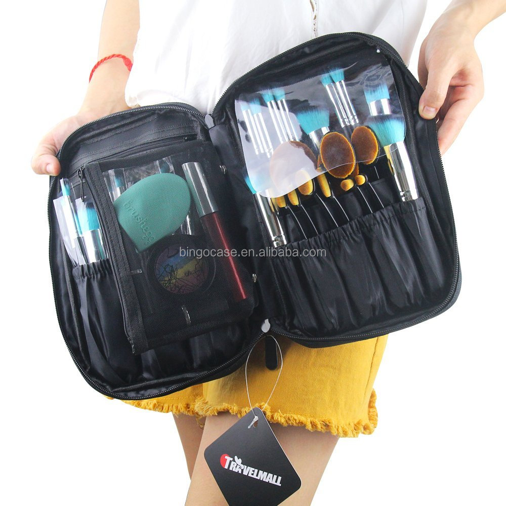 Small Cosmetic Makeup Brush Bag Organizer Makeup Artist Makeup Tool Carry Case