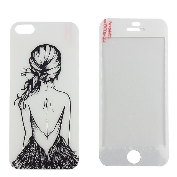 [GGIT] Wholesale Unique Design Carton Tempered Glass for iPhone 5