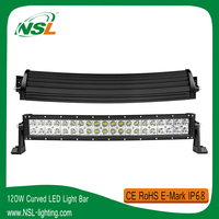 CE E-Mark Auto Lighting System 10-30V 20'' Off road LED Light Bar 120W Lightbar Offroad
