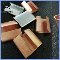 Golden strapping seal copper plated clip metal stuck