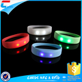 Reusable RF wristband RFID LED wristband Silicon RF wristband