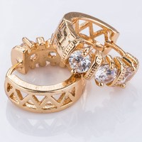High quality gold plated latest fashion earrings jewellery