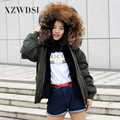 CX-G-P-19D Fashion Clothes Women Raccoon Fur Collar Faux Fur Lining Parka