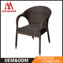 Modern Style Garden Extending Synthetic Rattan Table Chairs