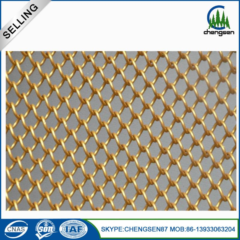 Pvc coated expanded decorative metal stainless steel mesh belt drapery