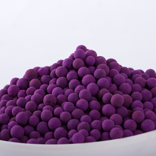Supply Bulk High Efficient Activated Alumina Ball KMnO4 Beads For Fruit Ethylene Gas Absorber