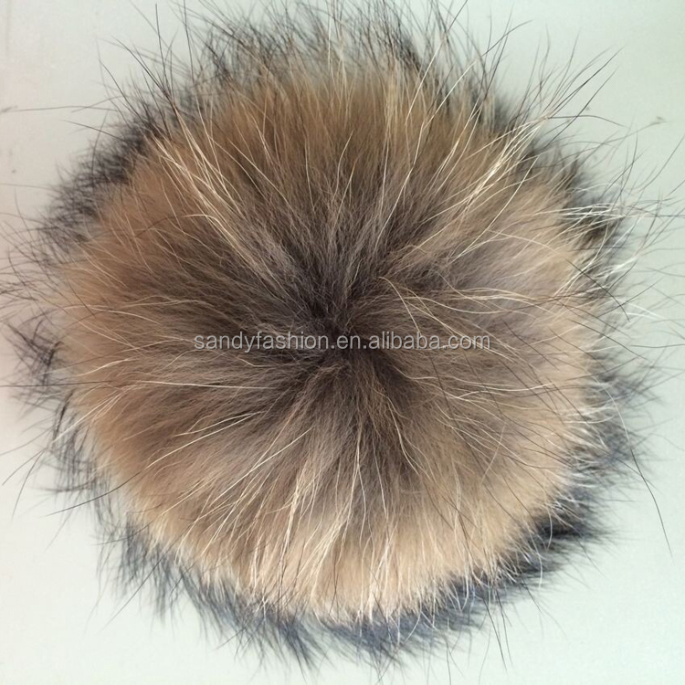 Big Size Fur Balls Raccoon Fur Pom Pom