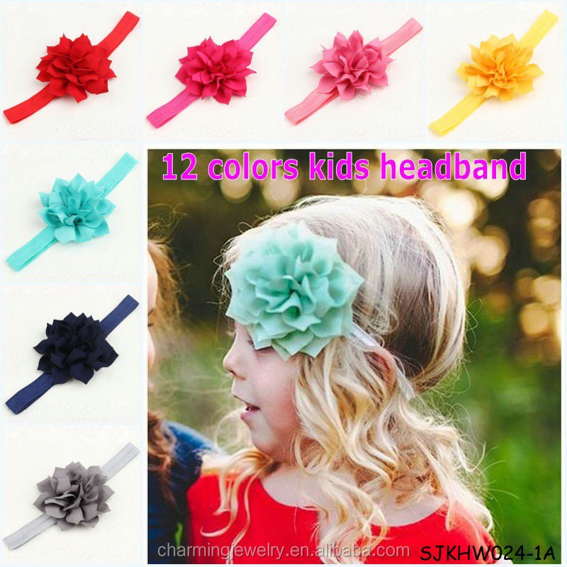 chinese hair accessories kids flower headband for girls
