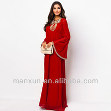 2014 New islamic clothing abaya dubai muslim women dress islamic abaya dubai abaya dress, jilbab, wedding/party/evening abaya